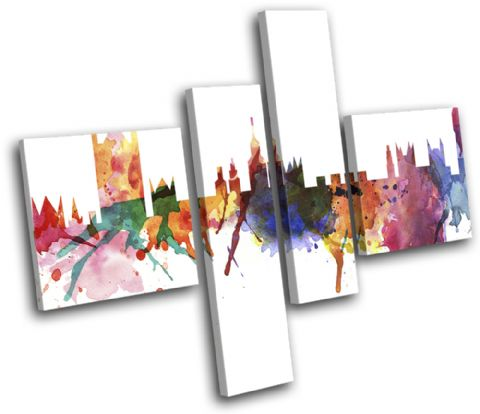 London Watercolour Abstract City - 13-6000(00B)-MP20-LO